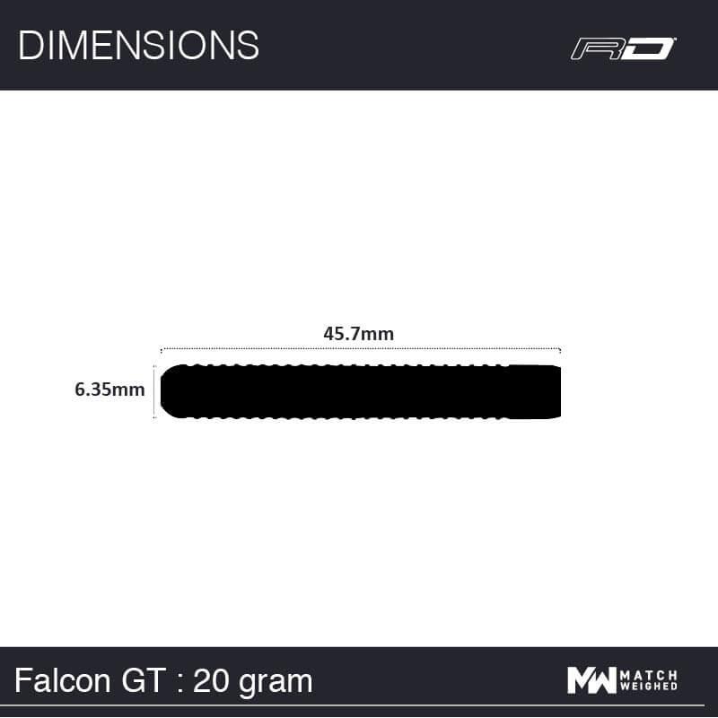 Red Dragon darts Red Dragon - 90% Tungsten - Falcon GT