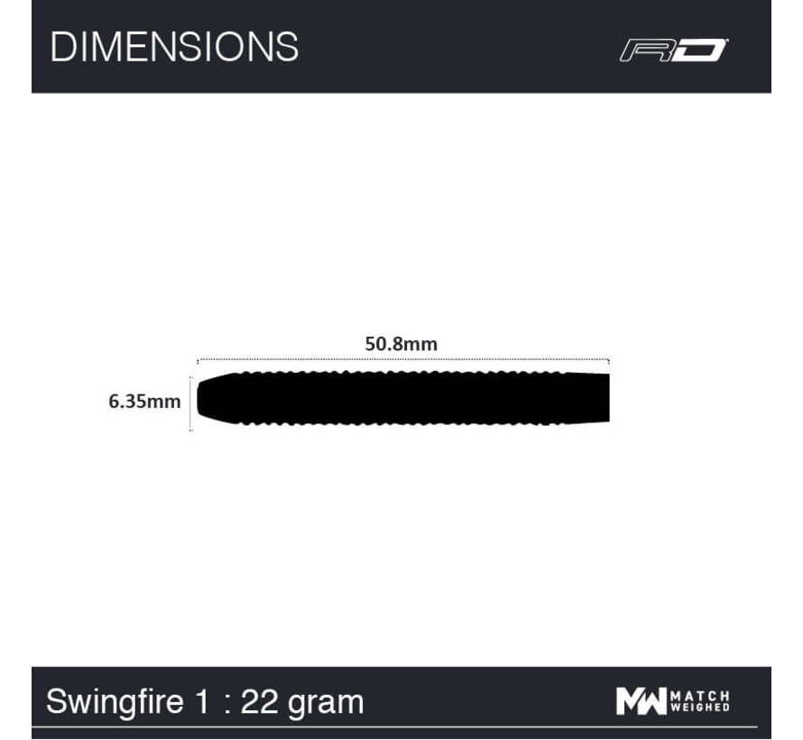 Red Dragon - 80% Tungsten - Flightmasters - Swingfire 1