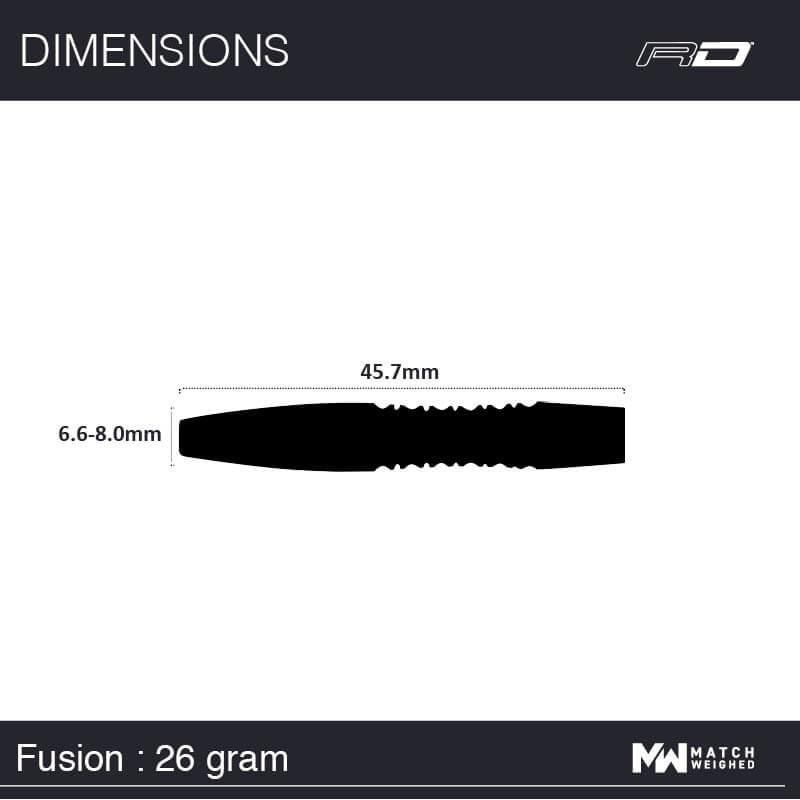 Red Dragon darts Red Dragon - 90% Tungsten - Fusions