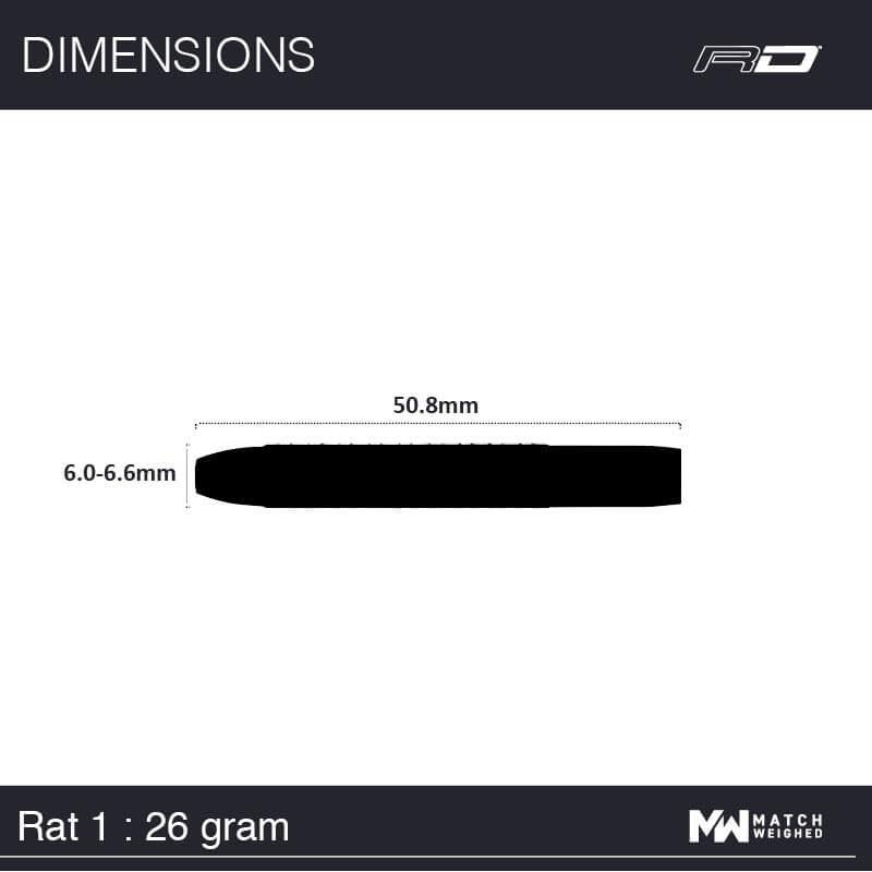 Red Dragon darts Red Dragon - 85% Tungsten - Rat Pack - Rat 1