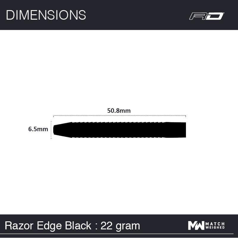 Red Dragon darts Red Dragon - 85% Tungsten - Razor Edge Black