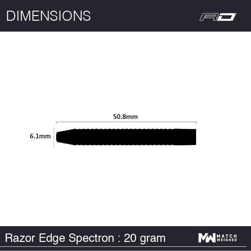 Red Dragon darts Red Dragon - 85% Tungsten - Razor Edge Spectron