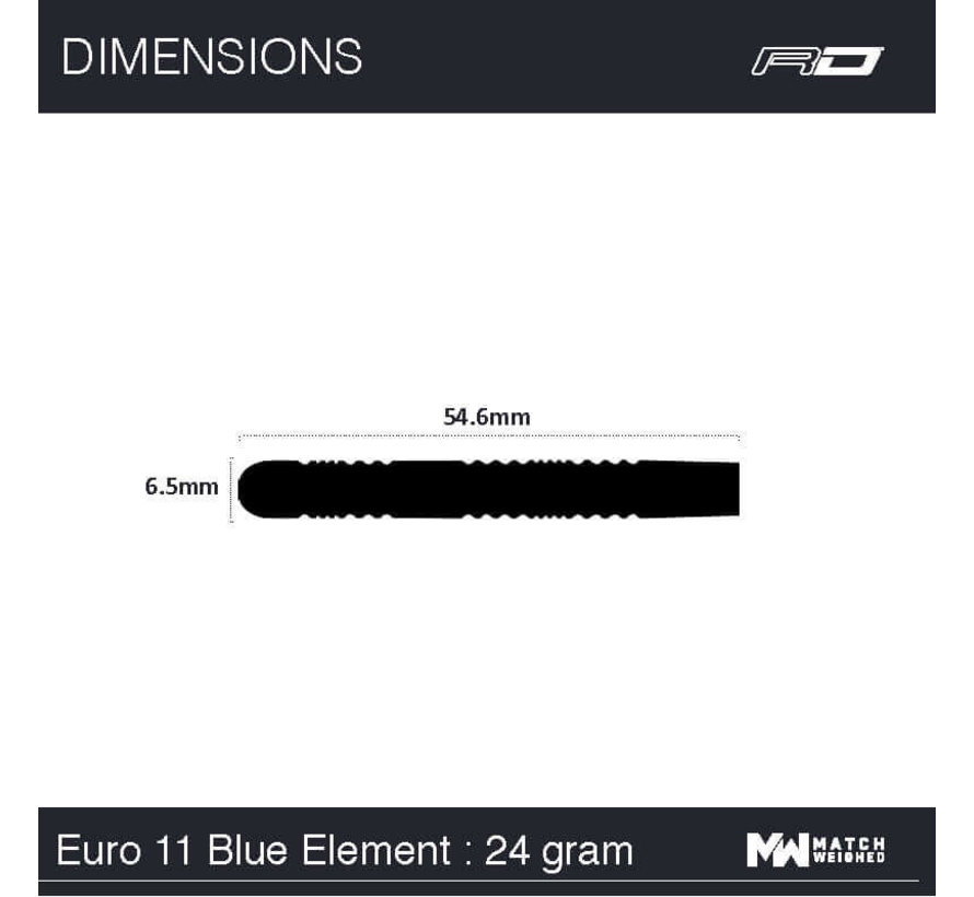 Red Dragon - 90% Tungsten - Peter Wright Euro 11 Element Blue Edition
