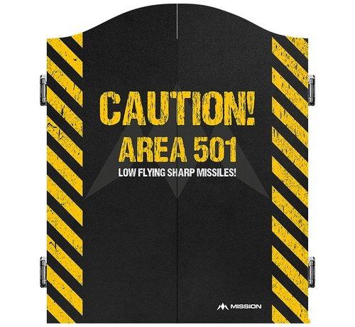 Mission Mission Dartbord Cabinet Area 501 Caution