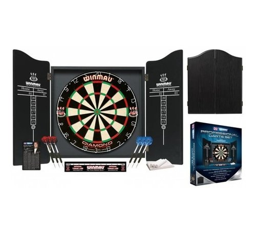 Winmau Darts Winmau Professional Dartset Black incl. dartbord