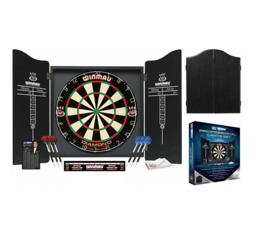 Winmau Professional Dartset Black incl. dartbord