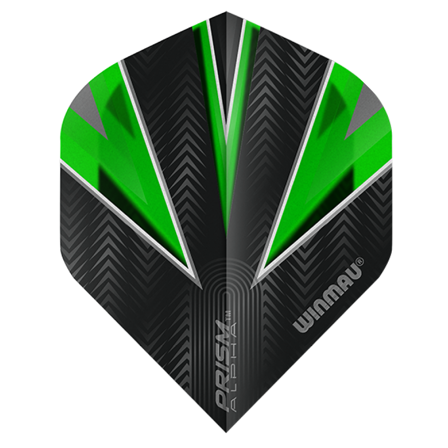 Winmau Darts Winmau Prism Alpha Flights in groen en zwart