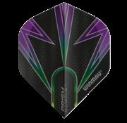 Winmau Darts Winmau Prism Alpha Flights in zwart, paars en groen