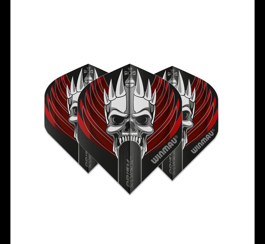 Winmau Prism Alpha Flights - Red Skull