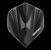 Winmau Darts Winmau Prism Alpha Flights in zwart en grijs