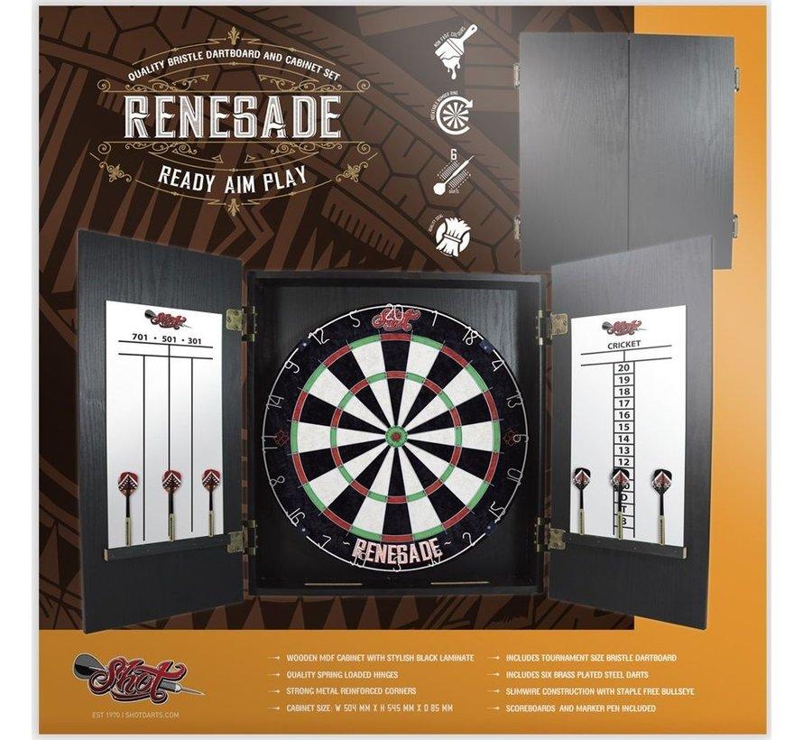 Shot Renegade Dartboard Kabinet Set