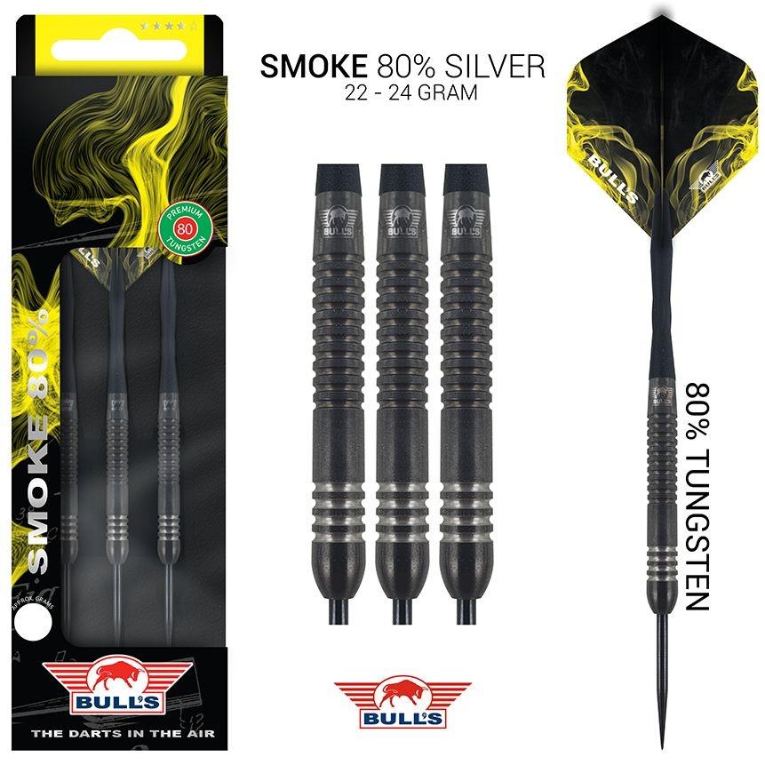 Bull's Darts: The darts in the air! Bull's Smoke 80% Tungsten Silver