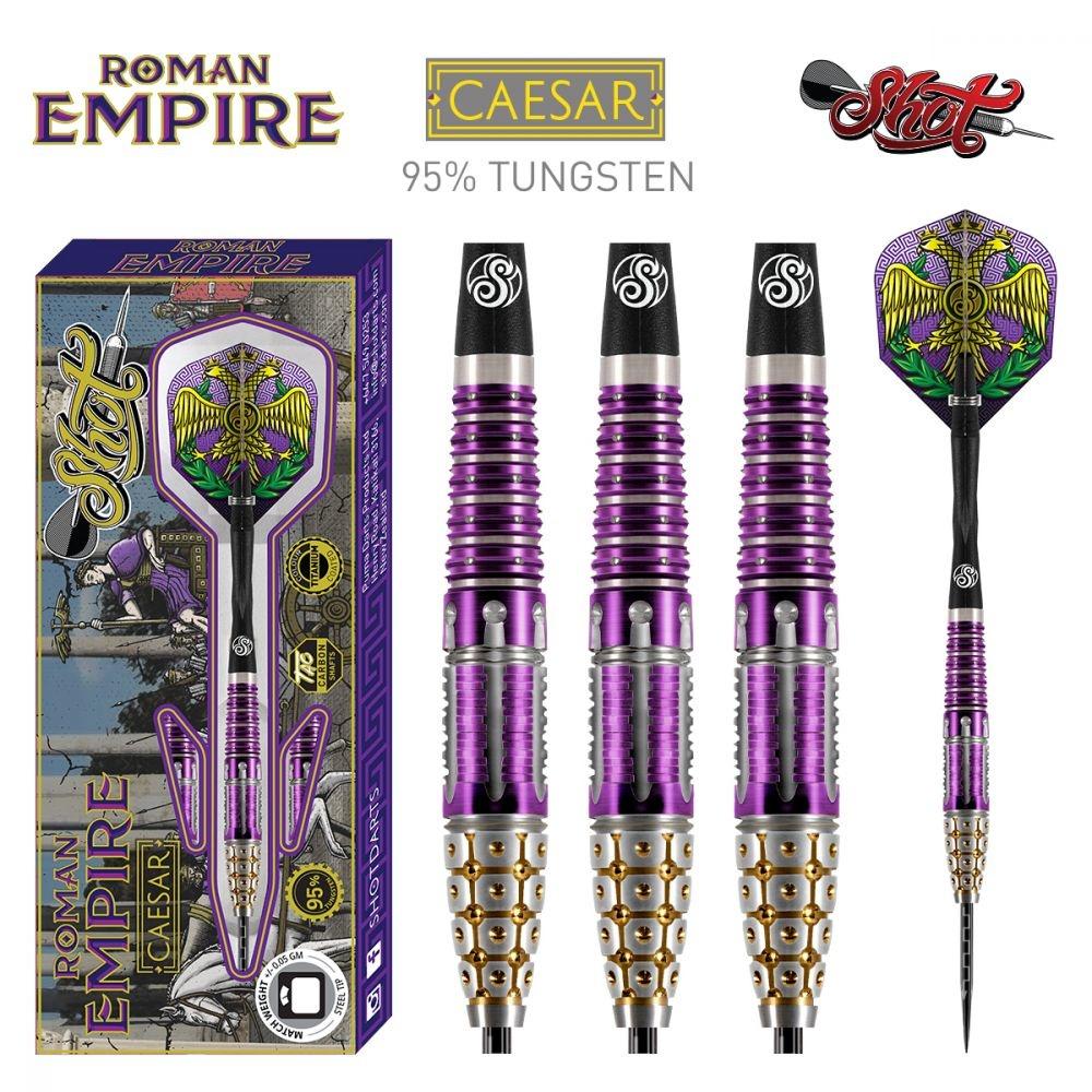 Shot! Darts Roman Empire Caesar 95% Tungsten Titanium Coated