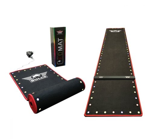 Bull's Darts: The darts in the air! Darts Carpet ochemat met LED verlichting