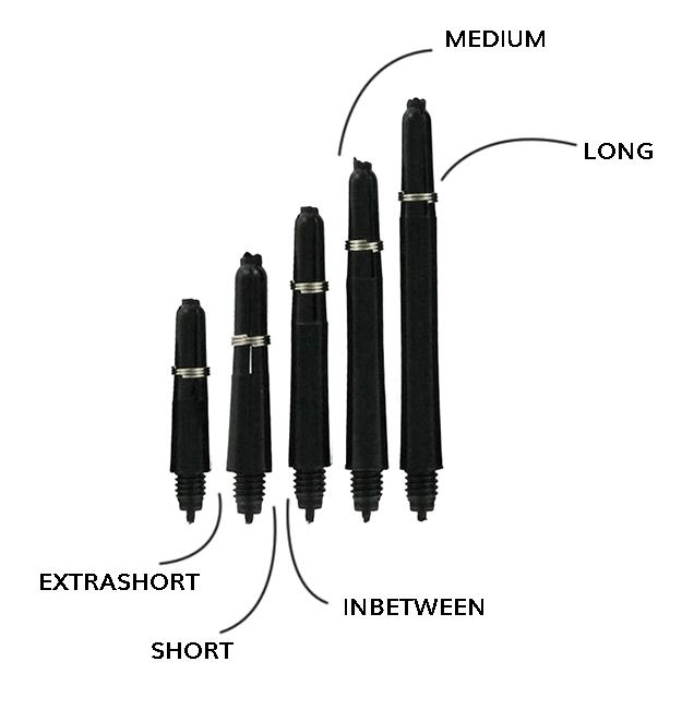 Lengtes dart shafts