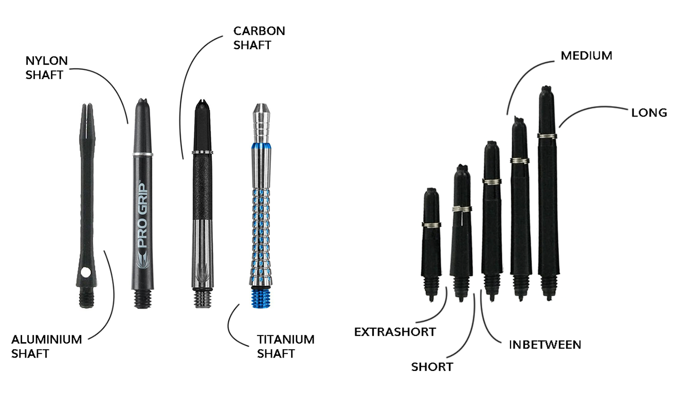 Soorten dart shafts