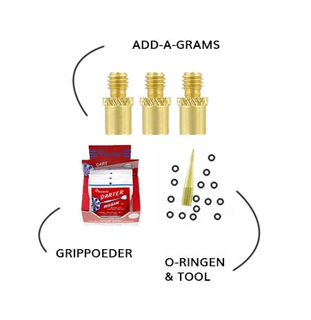 Accessoires grippoeder o-ringen add-a-grams