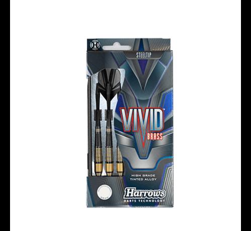 Harrows Darts Harrows Vivid Brass dartpijlen in zwart/goude kleur
