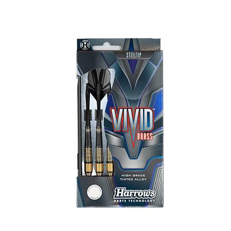 Harrows Darts Harrows Vivid Brass dartpijlen zwart/goud