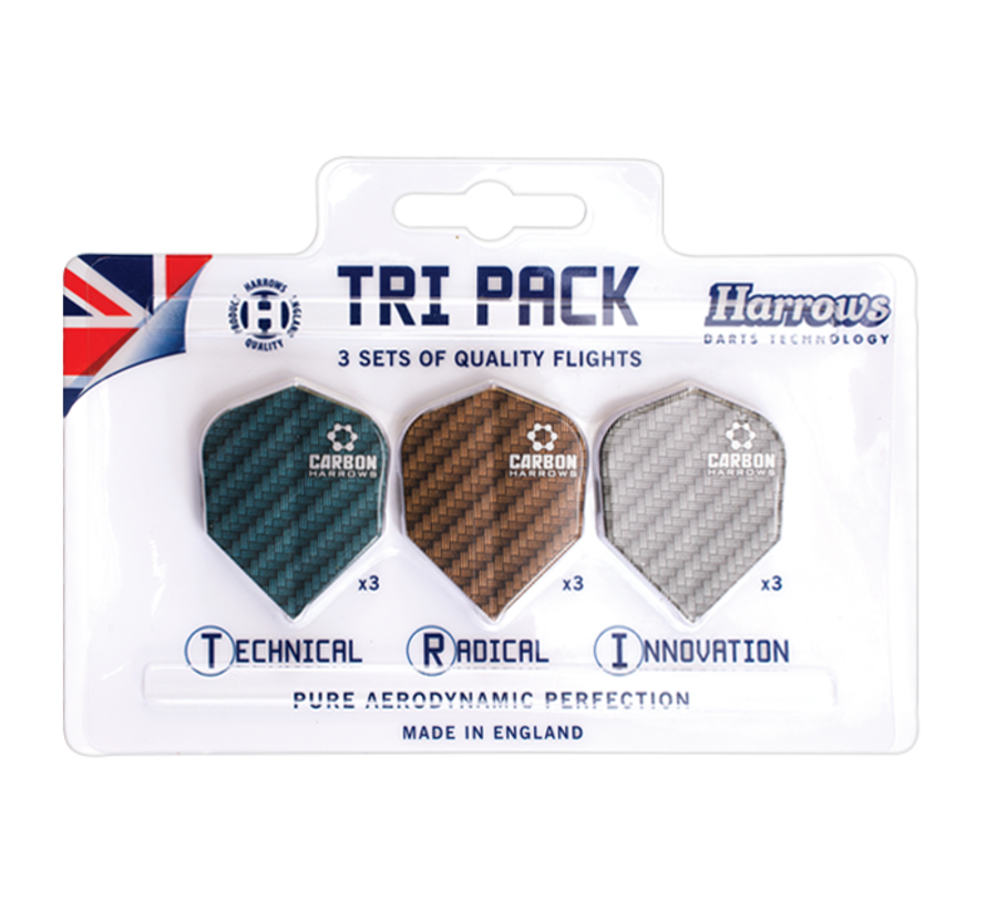 Harrows Carbon Tri Pack - 3 Sets Dart Flights
