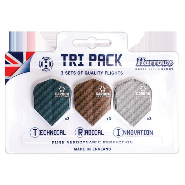 Harrows Darts Harrows Carbon Tri Pack - 3 Sets Dart Flights