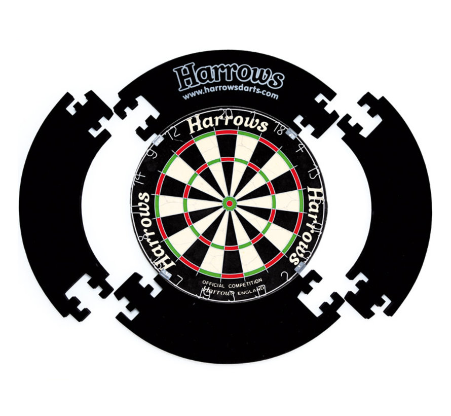 Harrows 4 Piece Dartboard Surround Zwart