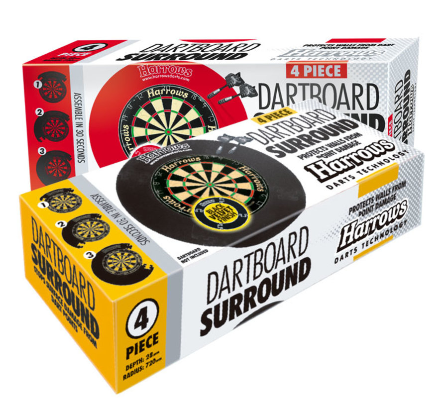 Harrows 4 Piece Dartboard Surround Rood