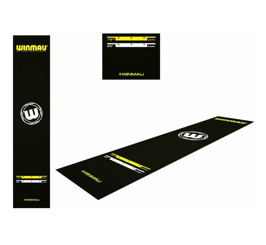 Winmau Xtreme Dart Mat 300 x 65 cm, met officiële werpafstanden