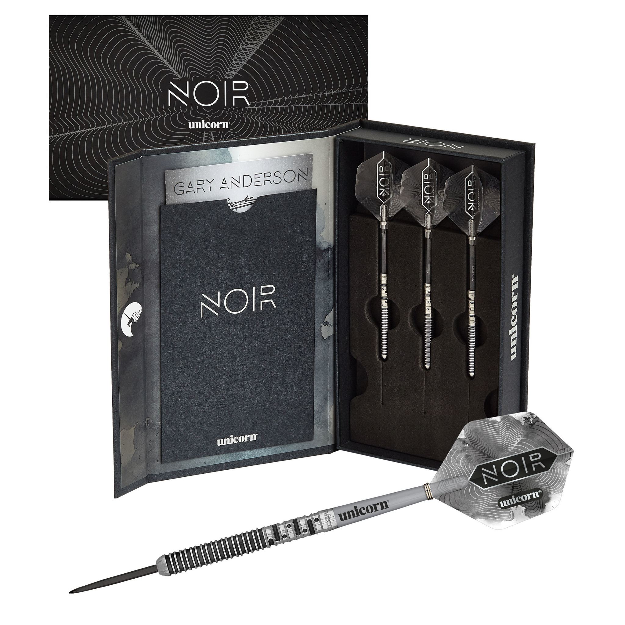 Unicorn Darts Gary Anderson W.C. Phase 5 90% Tungsten darts - Noir