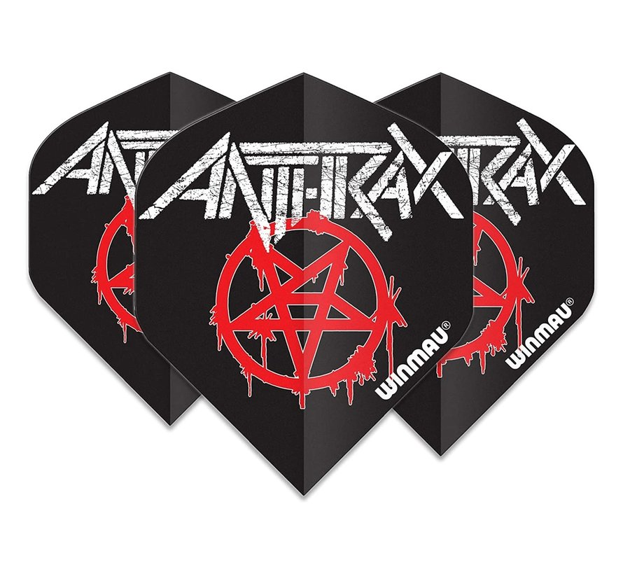 Winmau Rock Legends Anthrax Dart Flights Logo