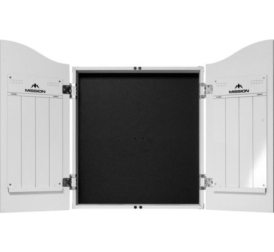 Mission Dartbord Deluxe Cabinet - Plain White