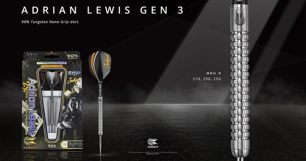 Adrian Lewis Gen 3 90% Tungsten Nano Grip