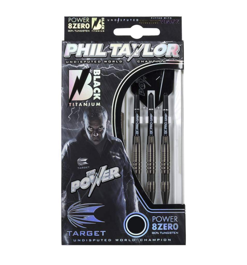 Target Darts Phil Taylor Power 8Zero Black Titanium