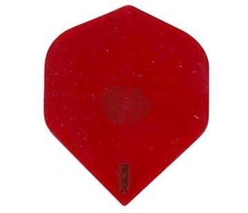 Ruthless Dart Flight-R4X Transparant Red