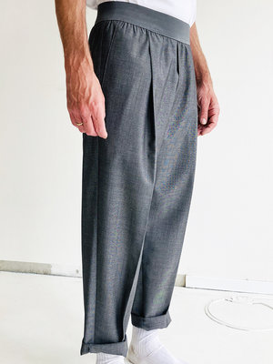 CROPPED PULL-ON PANTS_grey