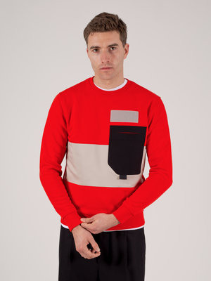 Hacked by__ Colour Block Sweatshirt