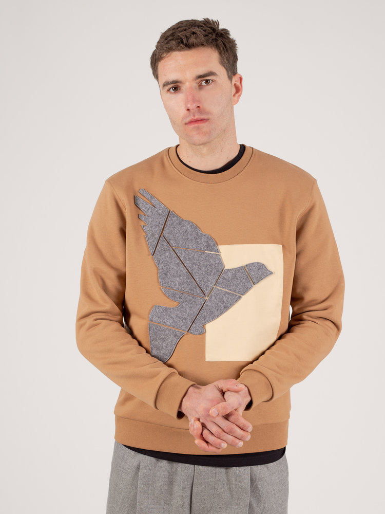 Hacked by__ Felt Applicated Sweatshirt