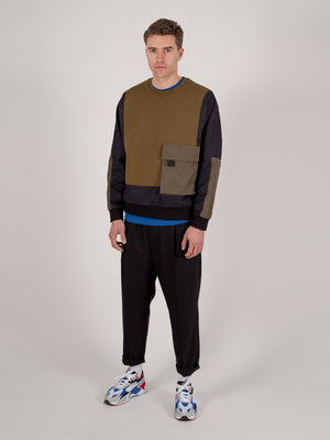 Hacked by__ Panelled Oversized Sweatshirt