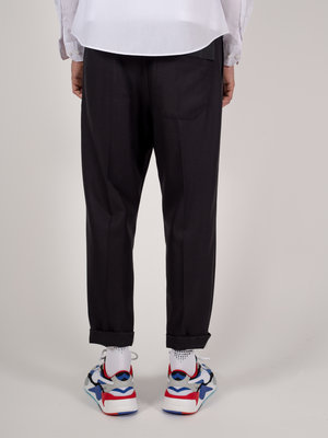 Hacked by__ Cropped front-pleated pants