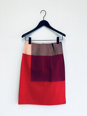 Hacked by__ Colour block skirt