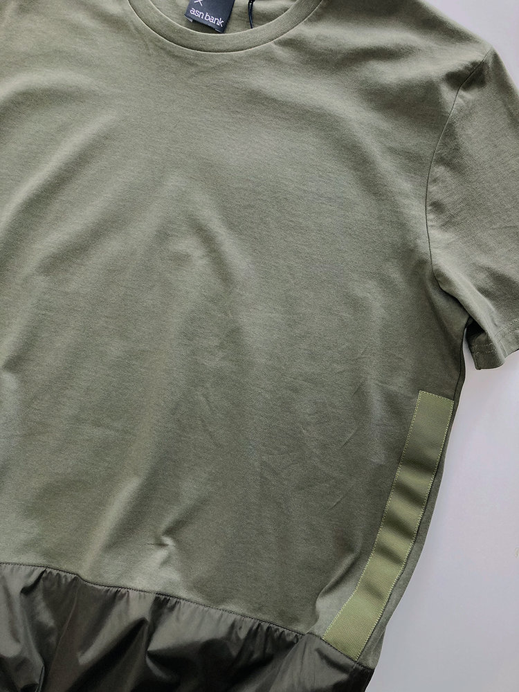 Hacked by__ Panelled T-shirt | Olive
