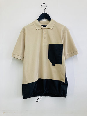 Hacked by__ Panelled colourblock poloshirt