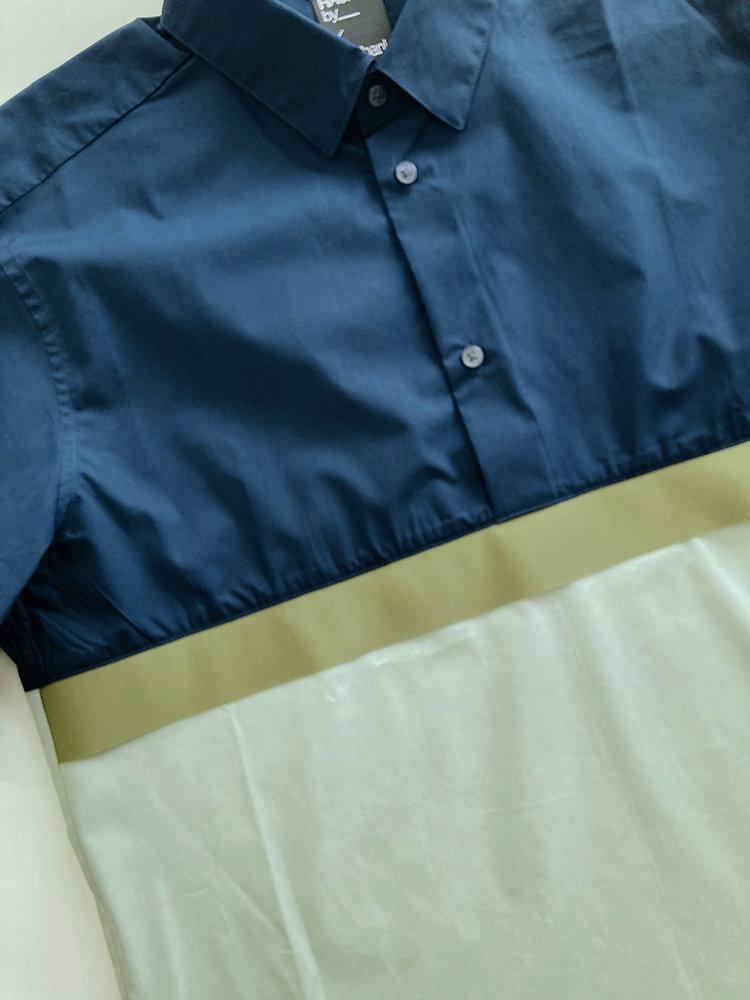 Hacked by__ Shortsleeved anorak shirt   Navy