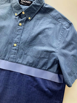 Hacked by__ Shortsleeved anorak shirt | Blue