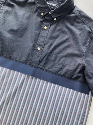 Hacked by__ Shortsleeved anorak shirt   Grey