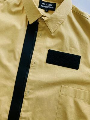 Hacked by__ Tech zipper shirt | Ochre/black