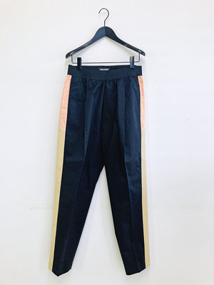 Hacked by__ Pleated contrast trackpants