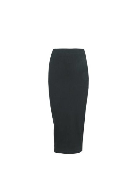 LA SISTERS Long Ribbed Tube Skirt