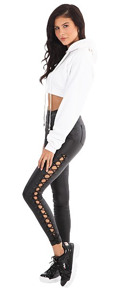 LA SISTERS LA Sisters Coated Side Lace Pants