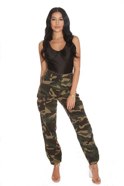 LA SISTERS LA Sisters Camouflage Pants